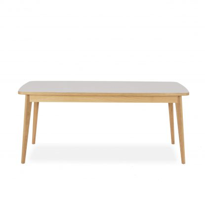 Usus Tisch aus Eiche und Linoleum
