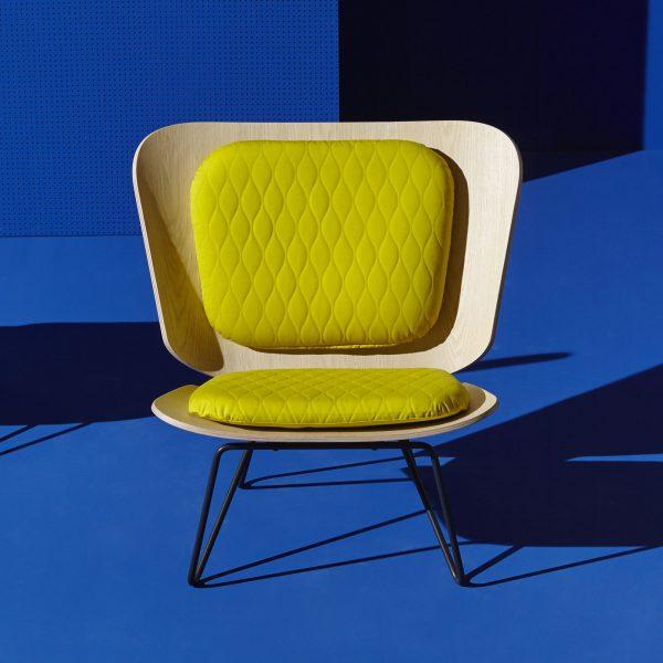 Lenz Sessel mit gelbem Polster