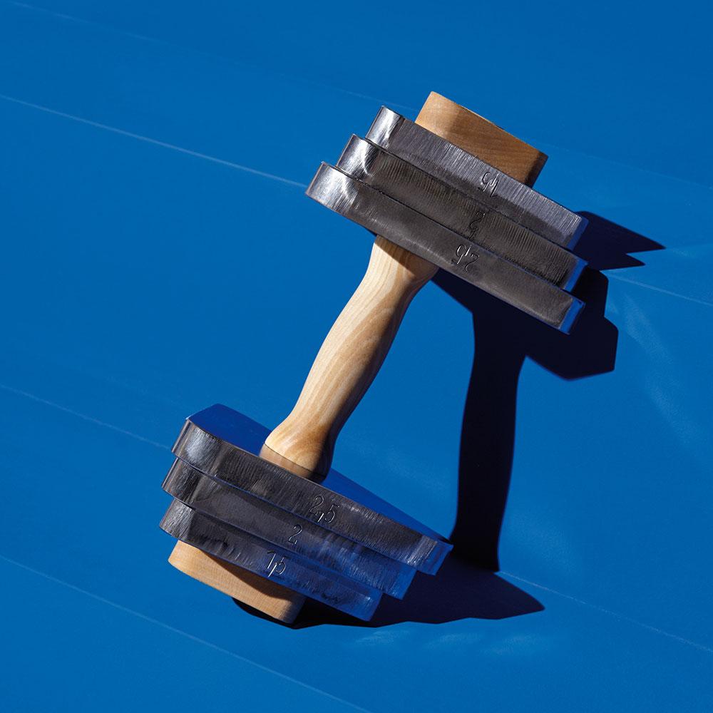 Hanteln mit Ahorngriff und Stahlgewichten