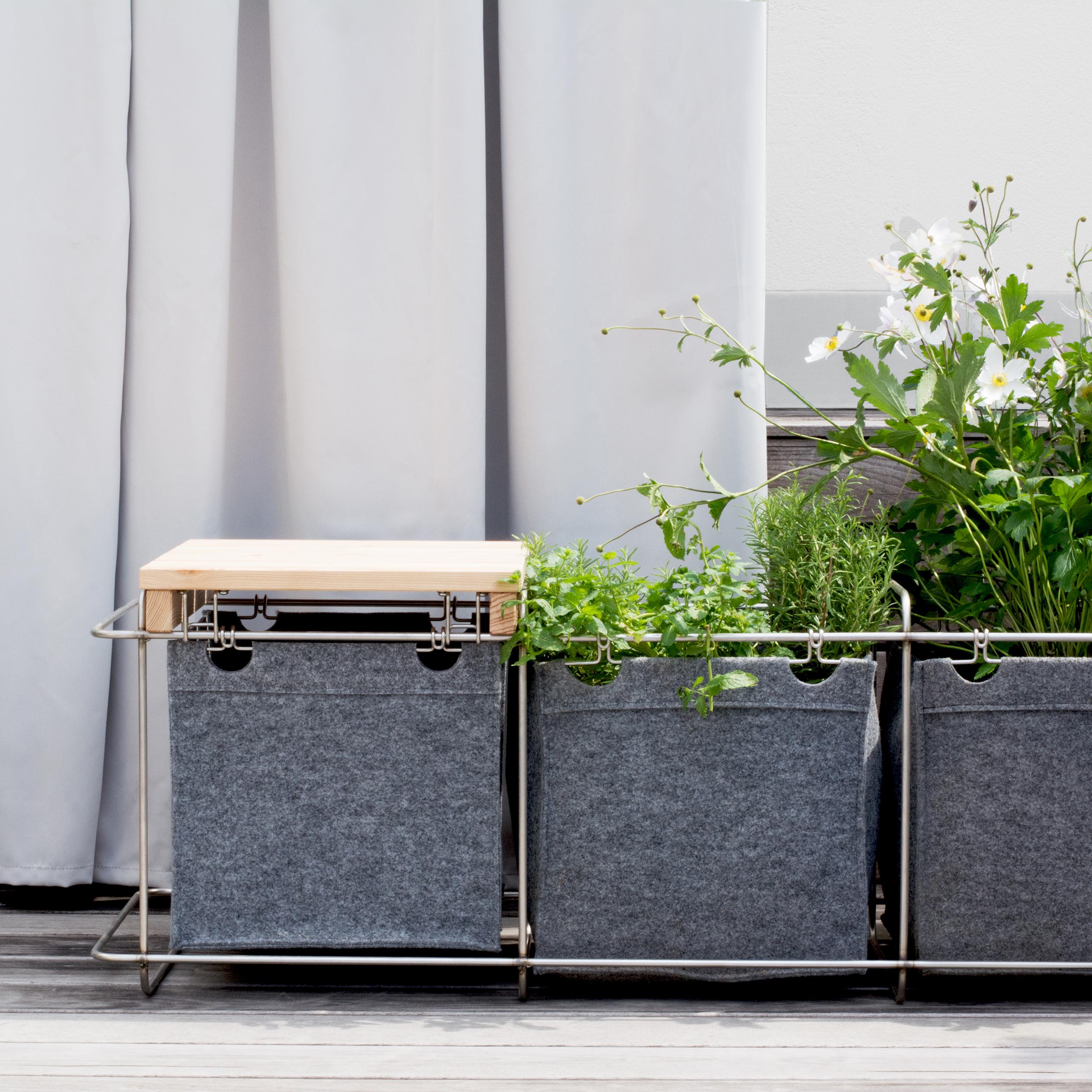 Grit Gartenmöbel als Pflanzkübel