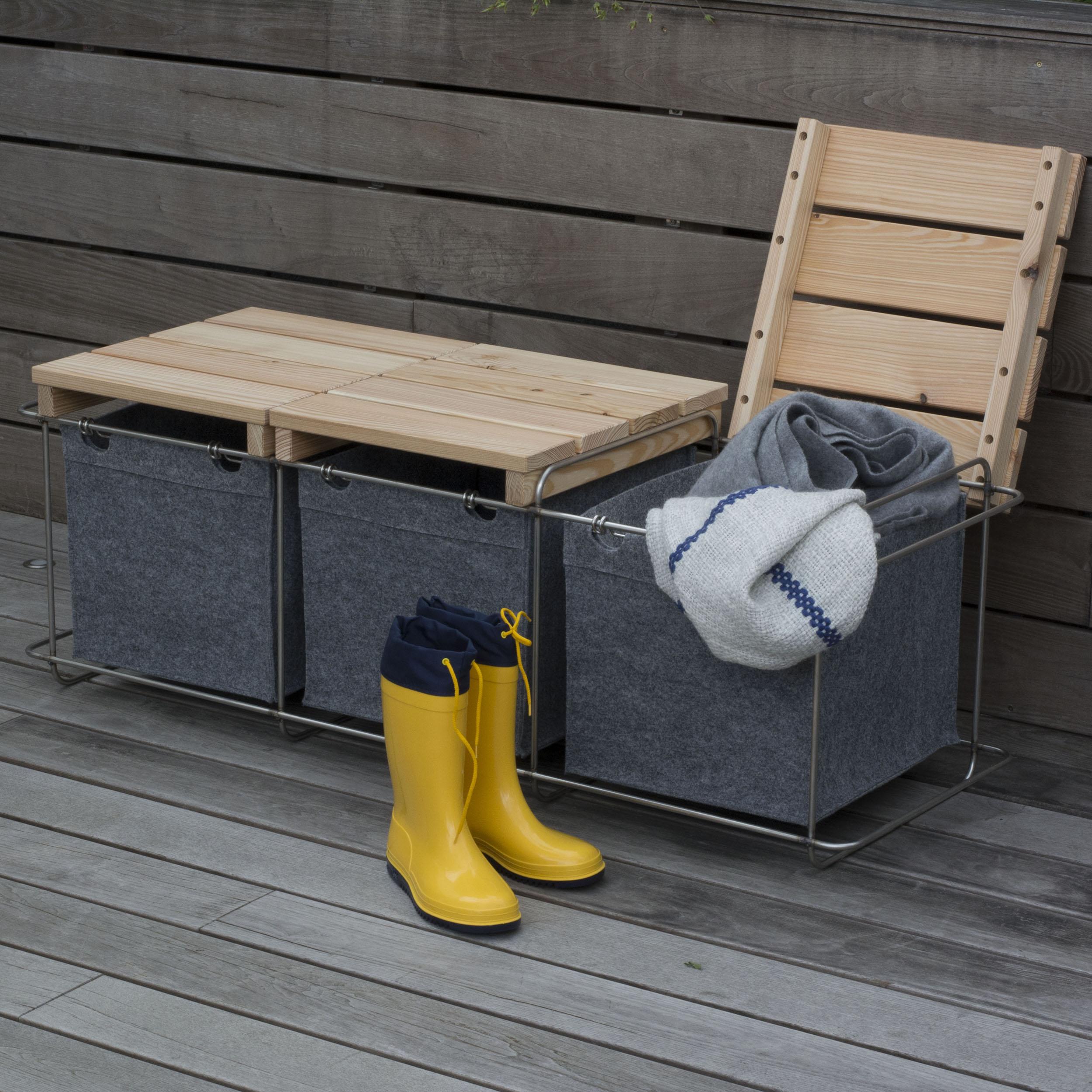 Grit Bank Terrassenmöbel mit Stauraum