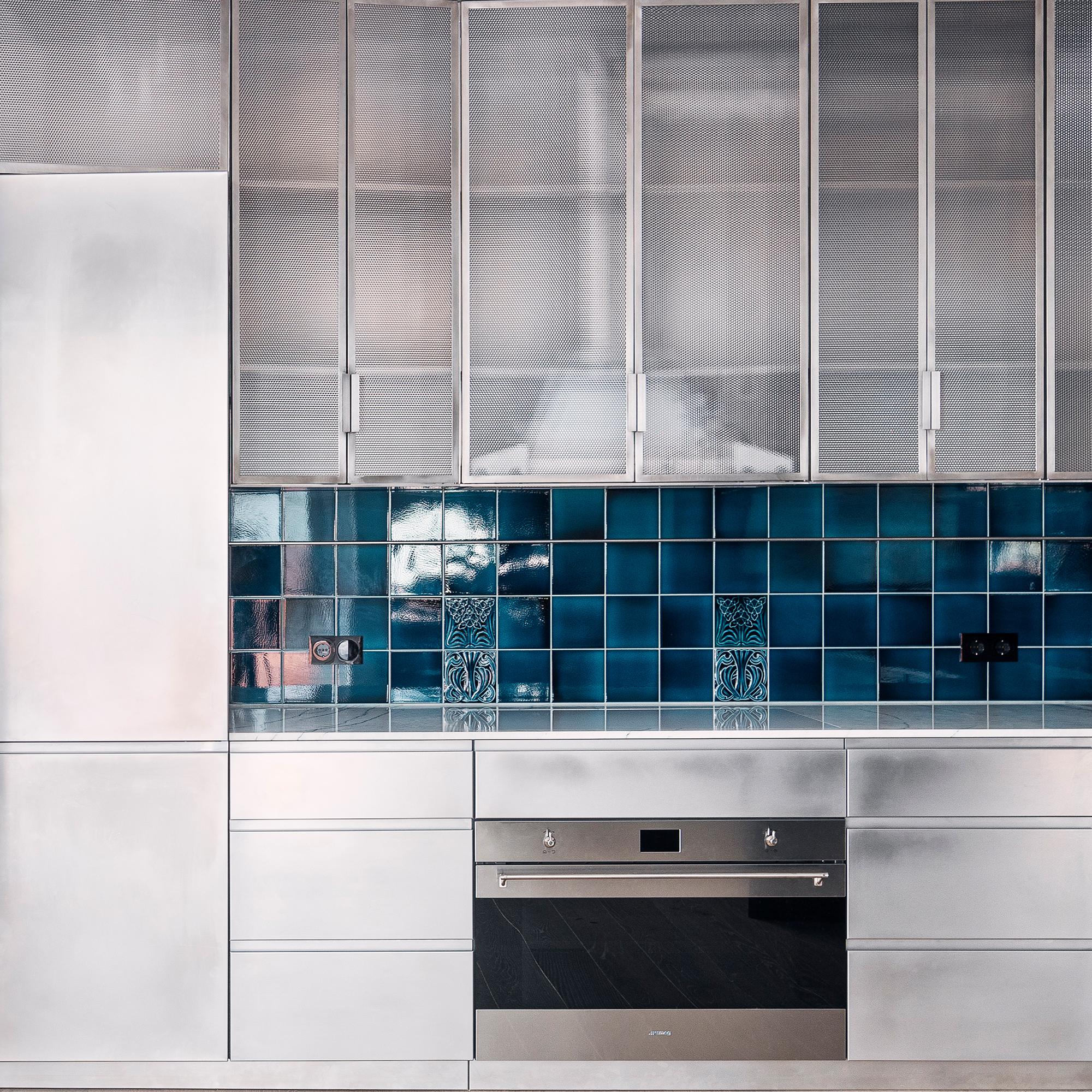 Küche aus Edelstahl