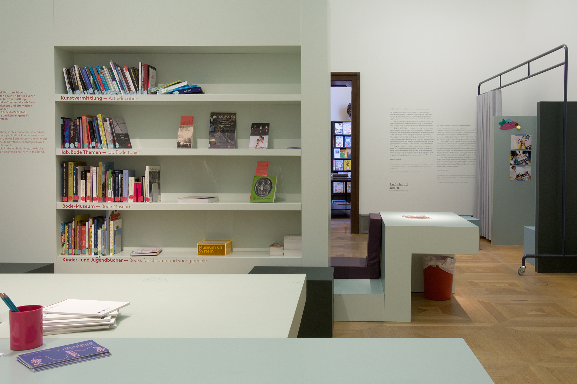 Projektraum im Lab Bode im Bodemuseum