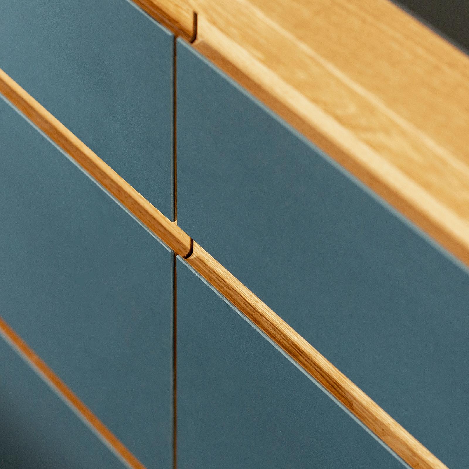 kitchen drawers linoleum oak