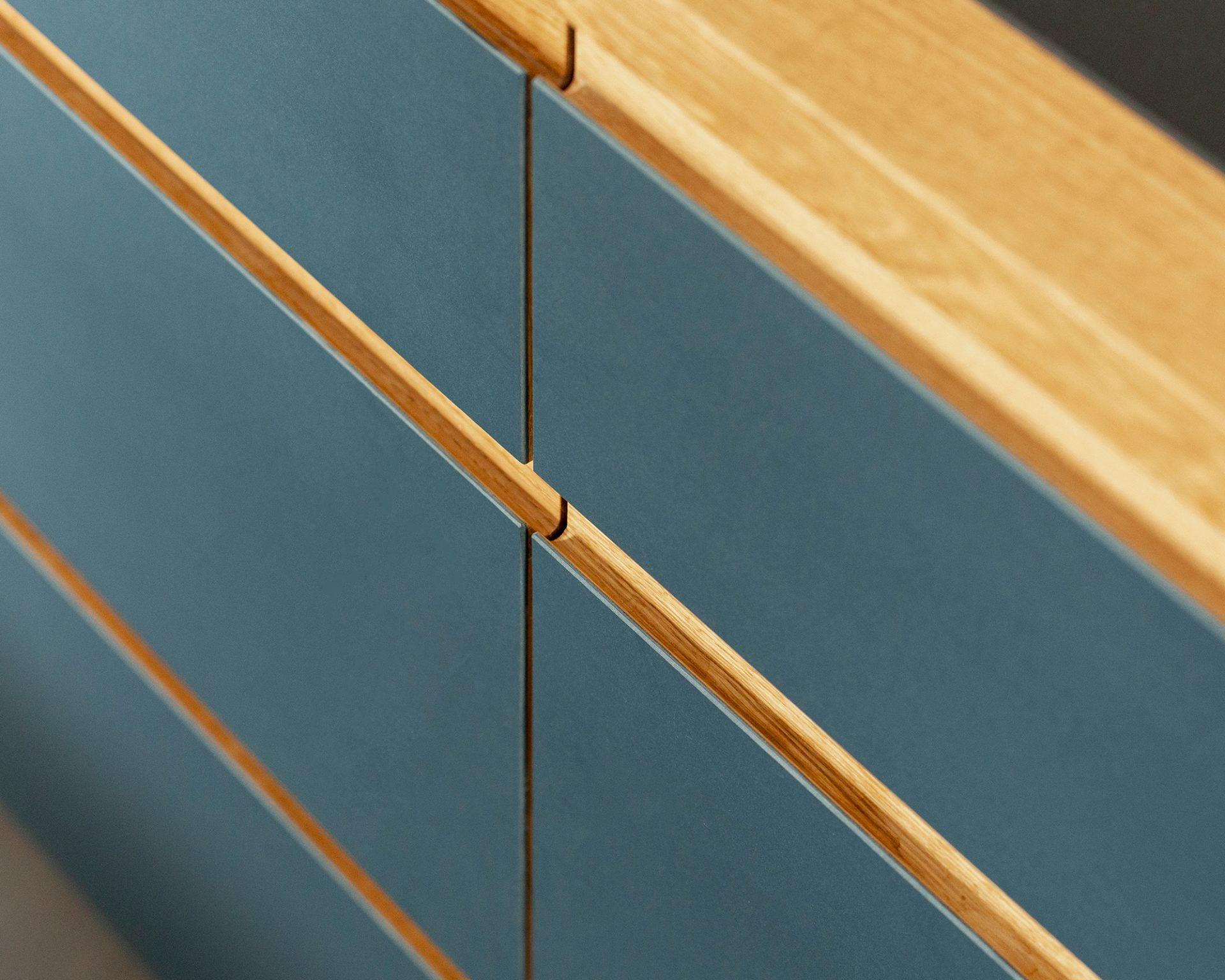 drawers linoleum blue