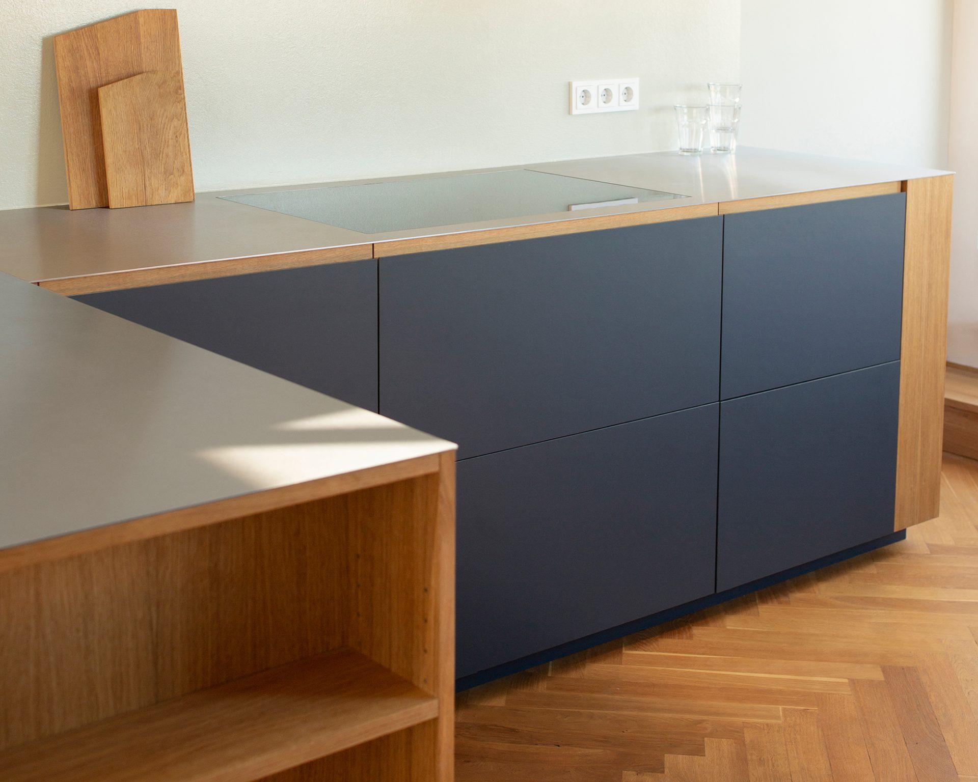 Küchee für ein Berliner Dachgeschoss